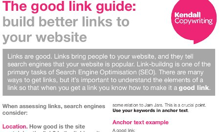 The good link guide - screenshot of PDF