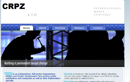 A screenshot of the home page of CRPZ Ltd